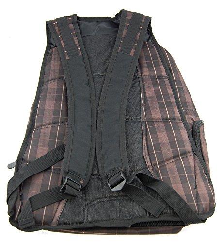 NB24 Rucksack Freizeitrucksack (4017), mit Karomuster, ca. 40 x 21 x 45 cm, Damen und Herren Tasche, Schultasche, Schulrucksack, Freizeittasche