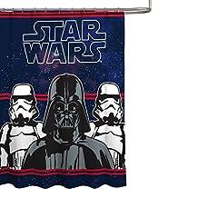 "Star Wars Darth Vader Microfiber 70"" x 72"" Fabric Shower Curtain"
