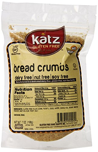 Katz Gluten Free Bread Crumbs   Dairy, Nut, Soy and Gluten Free   Kosher (1 Pack, 7 Ounce)