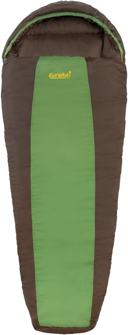 Eureka Grasshopper Kids 30-Degree Sleeping Bag, Brown Green