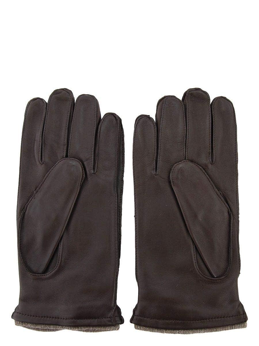 Sermoneta Gloves Mens SG406CA7414020 Brown Leather Gloves