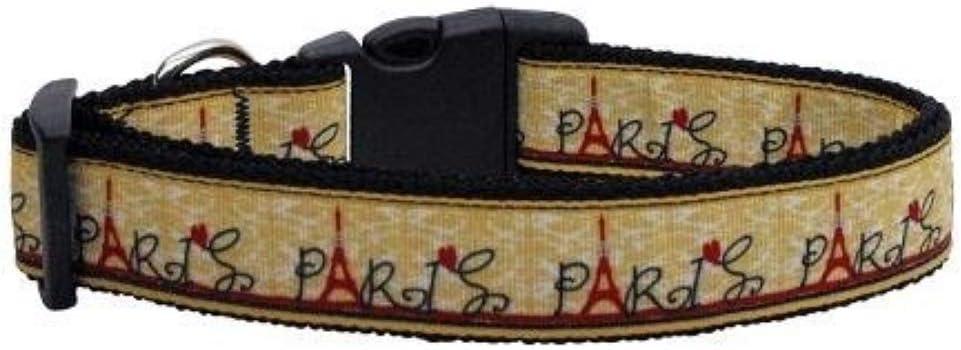 Paris dog ribbon inspired Paris grosgrain Paris ribbon dog elastic dog foe puppy