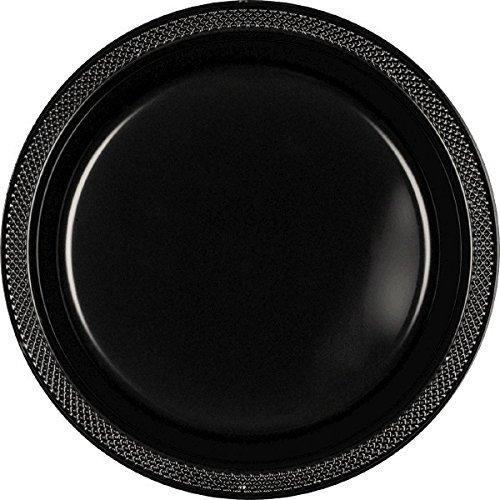 Jet Black Plastic Plates | 9