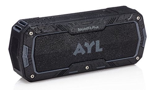 SoundFit Plus Waterproof Bluetooth Speaker - Durable Portable Outdoor Wireless Sound System - Features Powerful