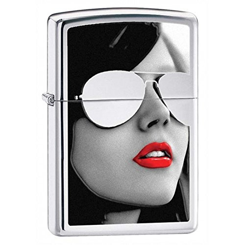 Gold Design Sunglasses High Polish Zippo Outdoor Indoor Windproof Lighter Free Custom Personalized Engraved Message Permanent Lifetime Engraving on - Sunglasses Zippo