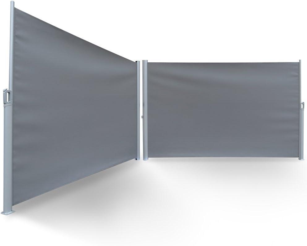 Serina Toldo Lateral (Visión Protección Wind 180 x 300 cm Toldo Separador 280 g/m², Gris: Amazon.es: Jardín
