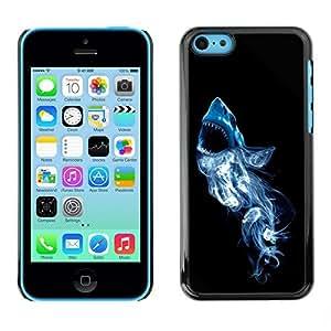 GagaDesign Phone Accessories: Hard Case Cover for Apple iPhone 5C - Smoke White Shark