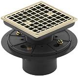KOHLER K-9136-AF Square Design Tile-In Shower Drain, Vibrant French Gold