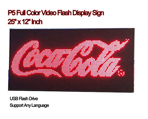 Video Full Color High Definition P5 LED Sign 25''x 12'' Programmable Scrolling Display Message Board by iSparkLED (Image #5)