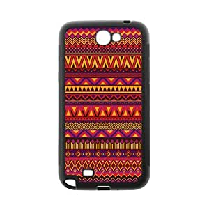 Aztec Series Personality Design Red Custom Luxury Cover Case with Best Plastic For Samsung N7100 GALAXY Note2(Black)