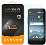 zte prelude 2 screen protector - [2-Pack] Supershieldz for ZTE Prelude + / ZTE Prelude Plus Tempered Glass Screen Protector, Anti-Scratch, Bubble Free, Lifetime Replacement Warranty