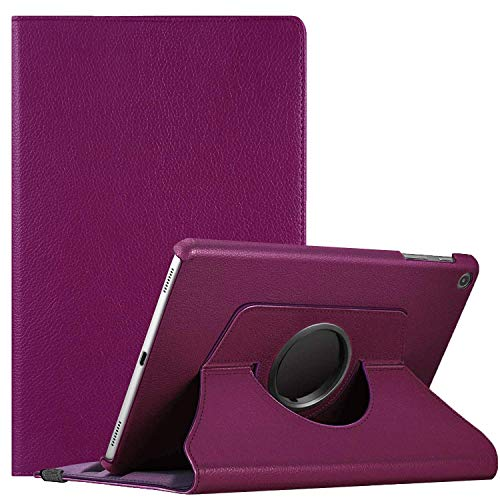 KYVIAUM Case for Galaxy Tab A 10.1 2019 Model SM-T510, Multi-Angle Viewing Stand Case Full Protective Cover for Samsung Galaxy Tab A 10.1 Inch 2019 Release Tablet (SM-T510/T515) - Purple