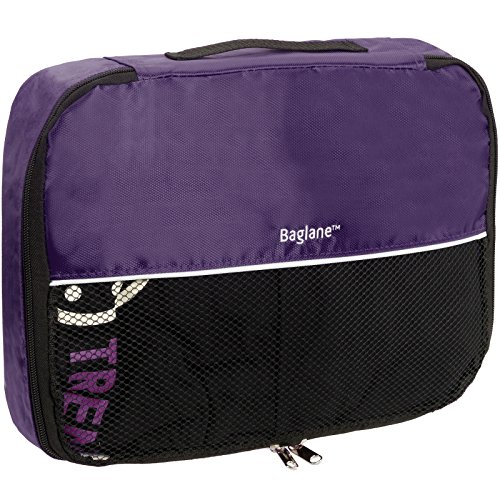 Price comparison product image Baglane Packing Cube Bag - TechLife Nylon Travel Luggage (Purple, Medium)