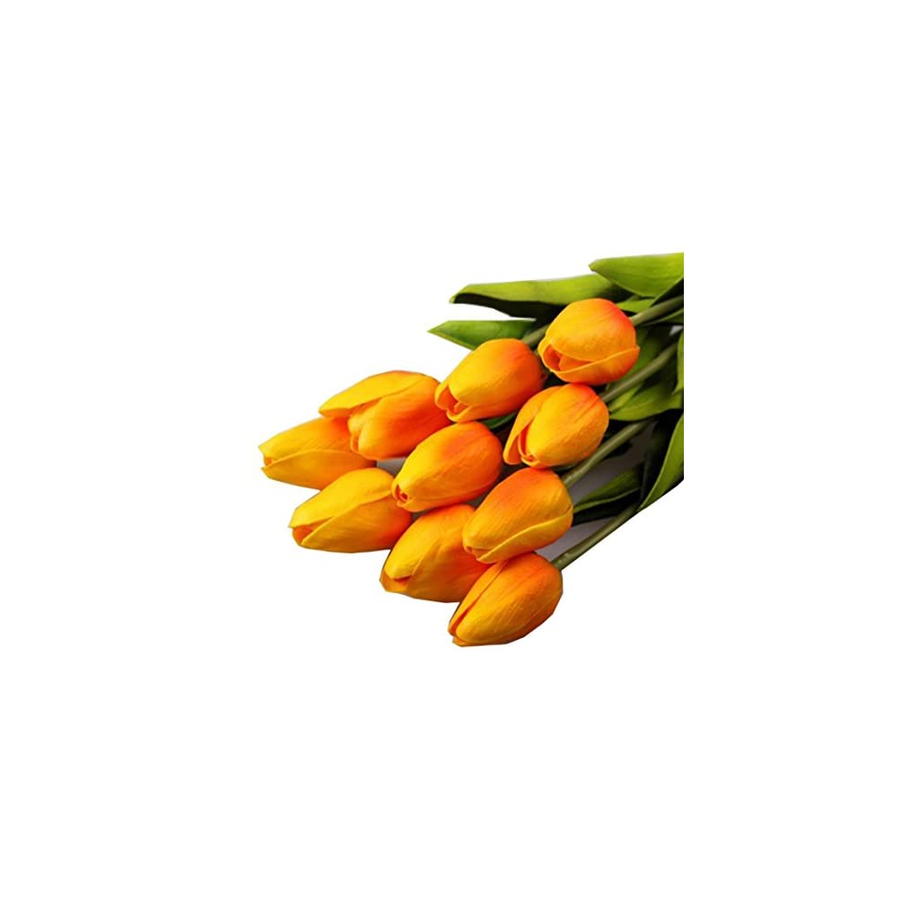 10PCSLOT-high-quality-PU-Stunning-Holland-mini-tulip-flower-real-touch-wedding-flower-artificial-flowers-silk-plants-for-room-home-hotel-party-Event-christmas-gift-decoration-multi-color-orange