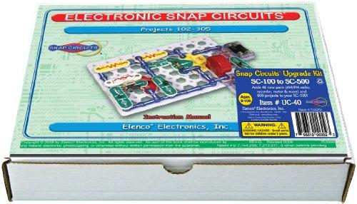 Snap Circuits UC-40 Electronics Exploration Upgrade Kit | SC-100 to SC-500 | Upgrade Junior to ()