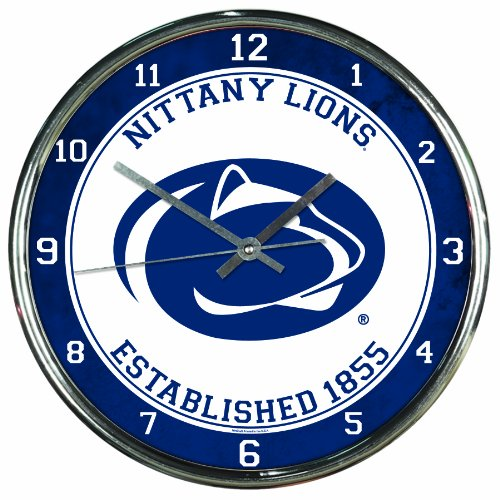 - NCAA Penn State Nittany Lions Chrome Clock, 12