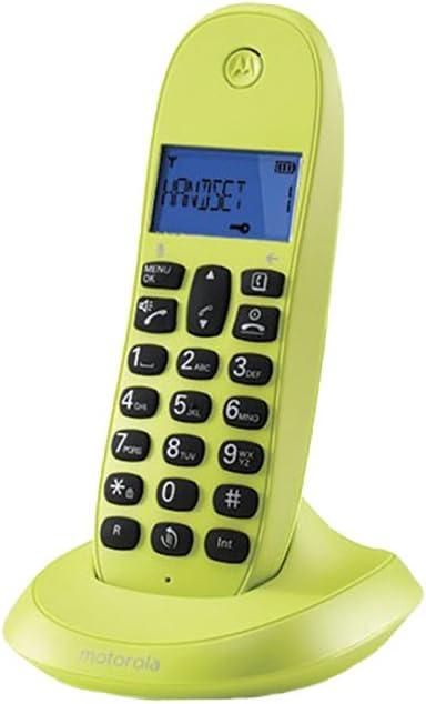 Motorola C1001 - Teléfono Digital (Funcion Manos Libres, Agenda para 50 contactos), Verde