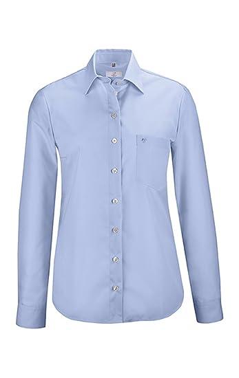 7e6ba0bdcb25 GREIFF Damen-Bluse mit New Kent-Kragen   Langarm   Bügelfrei   Eine  Brusttasche   100% Baumwolle  Amazon.de  Bekleidung