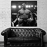 Poster Mural Mike Tyson Boxer Figher Boxing Champ 40x40 inch (100x100 cm) Adhesive Vinyl #38BW