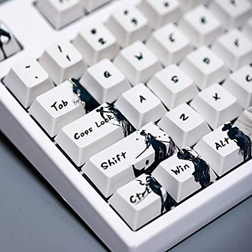 OEM Contour Keycap Mechanical Keyboard for MX Switch BPT Keycap 108 Keycaps Martial Arts and Ink Painting Five-Face Sublimation Process Keycap