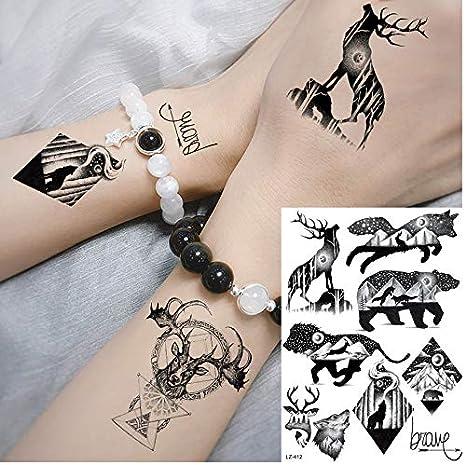 Tatuajes Temporales Niños Lol Galaxy Negro Planetas Animales ...