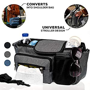Baby Stroller Organizer With Cup Holders – The Perfect Accessories for the busy mom. Our Stroller Caddy Organizers Have…