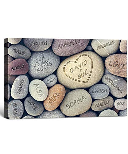 Our Family Rocks - Personalized Canvas Prints with all your family member
