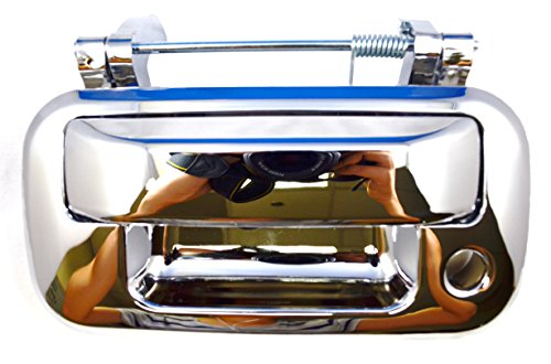 PT Auto Warehouse FO-3505M-TG - Tailgate Handle, Chrome - without Camera Hole