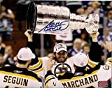Adam McQuaid signed Boston Bruins Stanley Cup Champions raising Cup 8x10