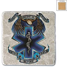 1 Emergency Medical Services EMS Service Before Self 4IN X 4IN Coaster