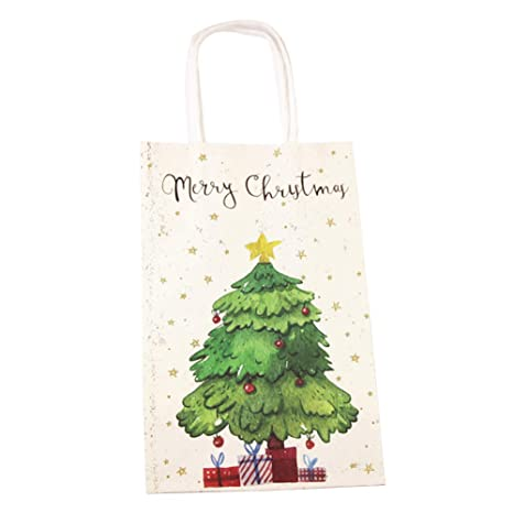 meigold 10 pieza Navidad Bolsas de papel Árbol de Navidad ...