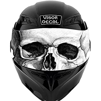 Amazoncom V American Flag Skull VISOR TINT DECAL Graphic - Motorcycle helmet decals graphicsappliedgraphics high visibility reflective motorcycle decals