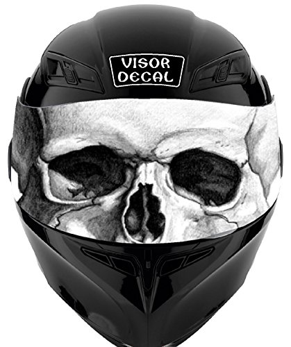 V25 Skull VISOR TINT DECAL Graphic Sticker Helmet Fits: Icon Shoei Bell HJC Oneal Scorpion AGV ()