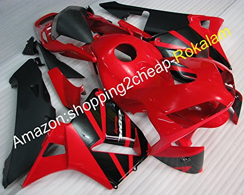 Hot Sales,For Honda CBR600RR F5 2003 2004 CBR 600RR CBR600 RR CBR-600RR 03 04 Red Black Motorcycle Bodywork Aftermarket Fairing Kit (Injection molding)