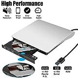 External DVD Drive, USB 3.0 Portable CD/DVD+/-RW