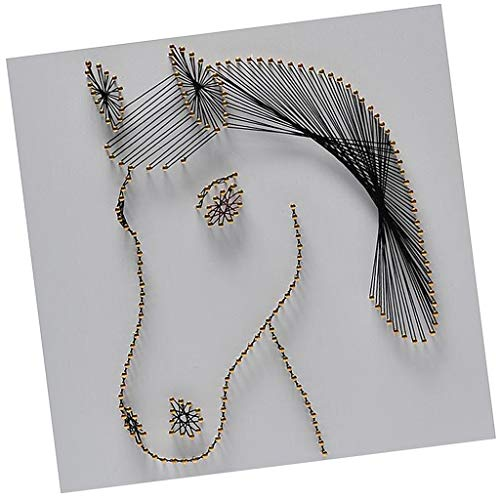 (SM SunniMix Horse Head Pattern String Art Kit for Adults DIY Nail Painting Craft Supplies 30 x 30cm)