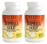 Planetary Herbals Triphala Gold 1000mg Extra Strength Ayurvedic - 120 Tablets (Pack of 2)