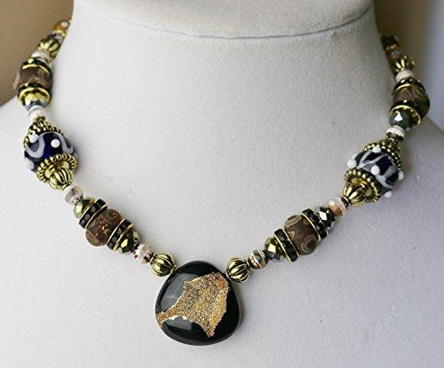 18k Drusy Onyx necklace