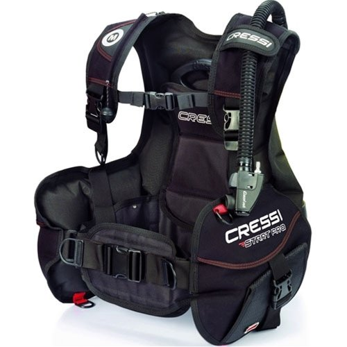 Cressi Start Pro Jacket Style Scuba Diving BCD Ideal for Beginners with Quick-Release Weight Integrated Pocket