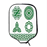 YOLIYANA Irish Durable Racket Cover,Medieval Ancient Knots Symbols Braided Design Religious Old Folkloric Gaelic for Sandbeach,One Size