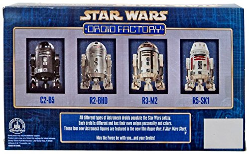 C2-B5, R2-BHD, R3-M2 /& R5-SK1 Disney Parks Authentic Original Exclusive Star Wars The Force Awakens Rogue One Droid Factory Figures 4-Pack