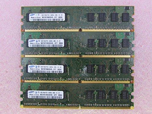 (Samsung M378T2863EHS-CF7 4GB 4 x 1GB PC2-6400U DDR2 800 NonECC Unbuff Memory Kit)