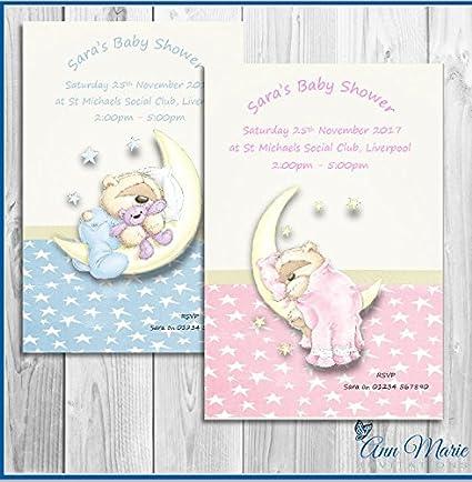 Tarjeta De Invitación Personalizada Para Baby Shower