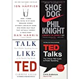 Shoe Dog, 10% Happier, Talk Like TED, TED Talks 4 Books Collection Set