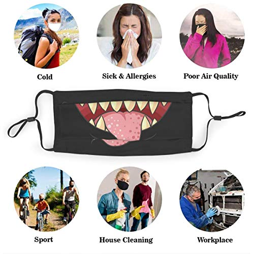UxaliO Fashion Printed Mask Mouth Dust Mask with Filter Element Anti-Dust Mask