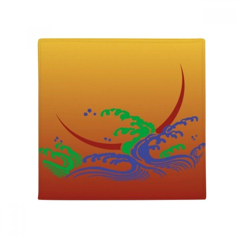 DIYthinker Painting Japanese Culture Flower gold Anti-Slip Floor Pet Mat Square Home Kitchen Door 80Cm Gift