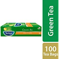 Tetley Green Tea, Lemon and Honey, 100 Tea Bags