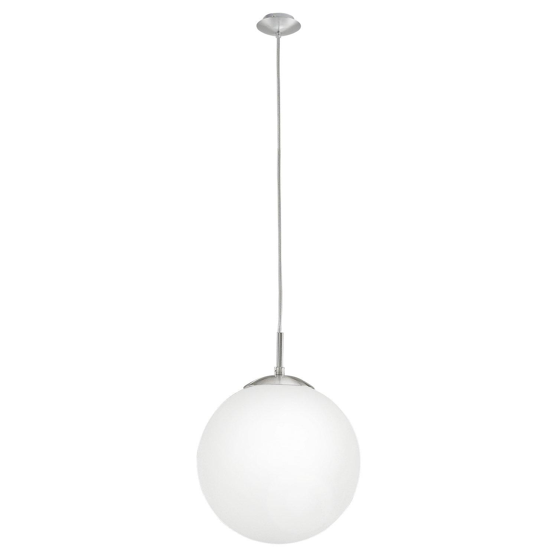 EGLO RONDO iluminación de suspensión Montaje flexible Níquel E27 60 W - Iluminación de suspensión (Montaje flexible, Níquel, Blanco, Acero, Vidrio, ...