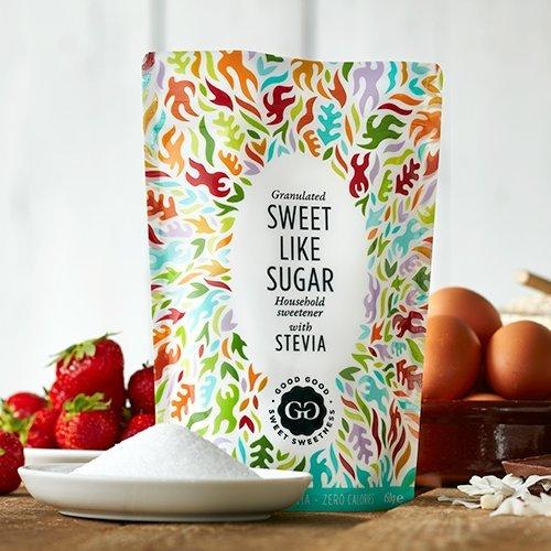 Good Good Süß wie Zucker Süßstoff mit Stevia (450g) - Ideal zum Backen und zuckerfrei! Das kalorienarme Wundermittel für Diabetiker!