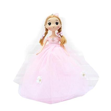 Muñeca de boda para niños con lazo de 10 pulgadas de Kawaii con diseño de muñeca